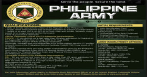 How to Join in Philippine Army Recruitment | Procedures and Requirements