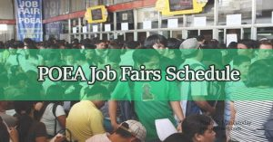 Schedule of POEA Job Fairs for the Month of September to November 2017