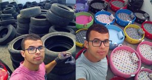 Man-from-Brazil-Made-Animal-Beds-from-Old-Tires,-Becomes-an-Internet-Sensation
