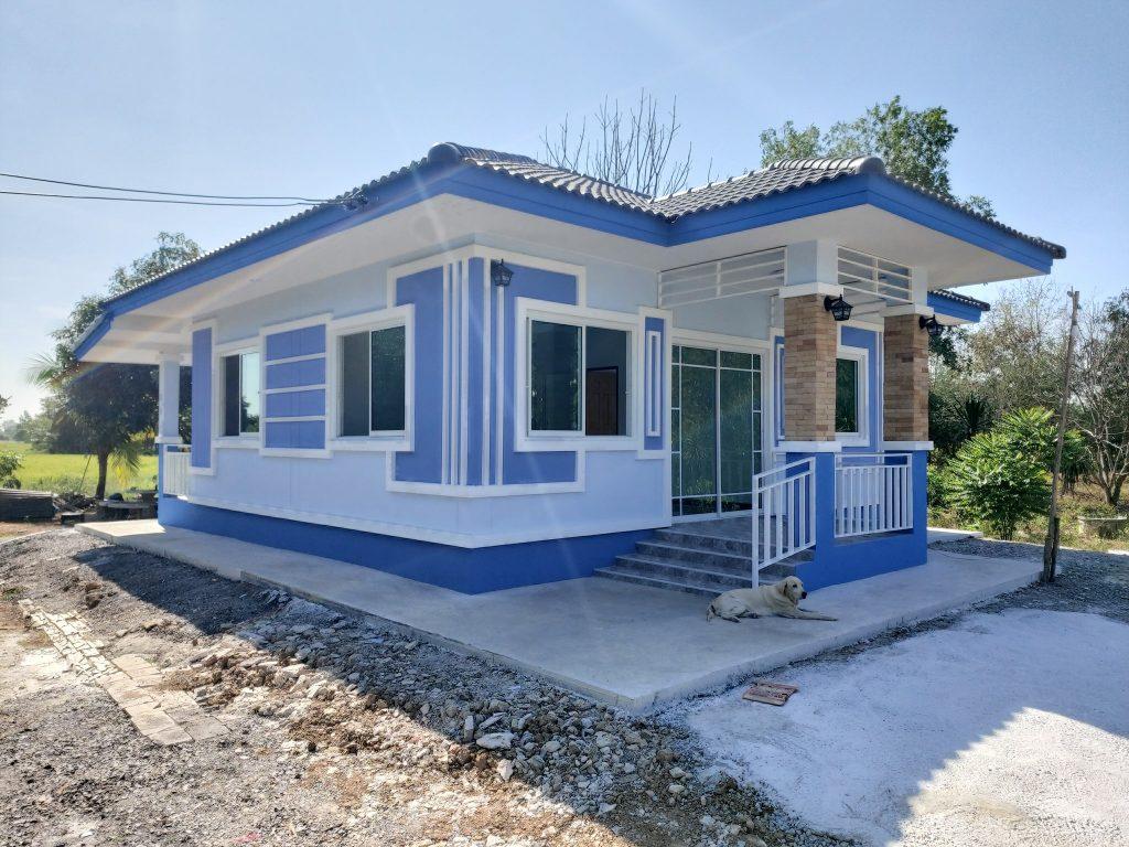 Look One Storey Unique Blue Color House Design Proudbrown